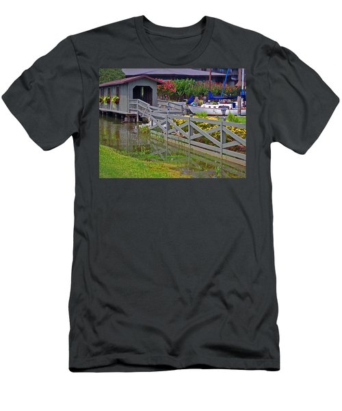 Point Clear Bridge At Grand Hotel Men's T-Shirt (Athletic Fit)