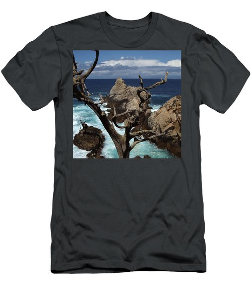Point Lobos Rocks And Branches Men's T-Shirt (Athletic Fit)