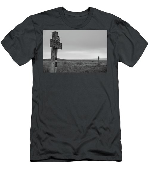 Men's T-Shirt (Athletic Fit) featuring the photograph Pointing The Way In 1960 by RKAB Works