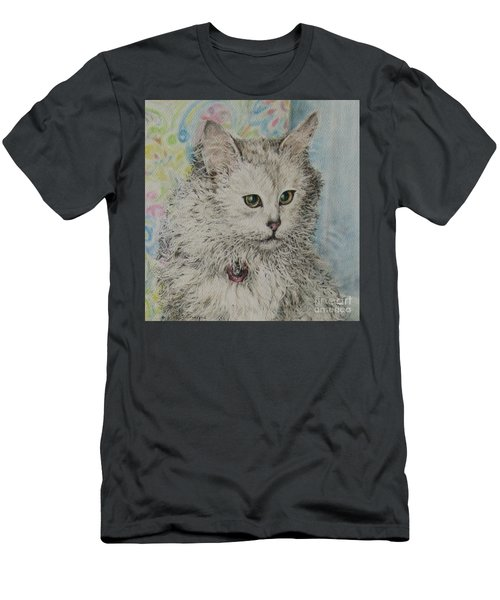 Poised Cat Men's T-Shirt (Athletic Fit)