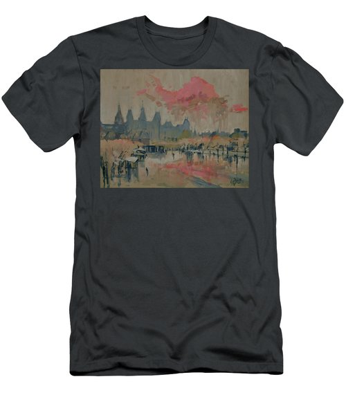 Pokkenweer Museum Square In Amsterdam Men's T-Shirt (Athletic Fit)