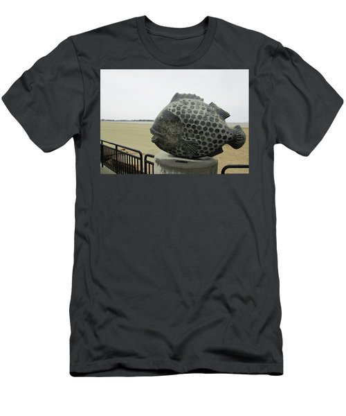 Polka Dotted Fish Sculpture Men's T-Shirt (Athletic Fit)