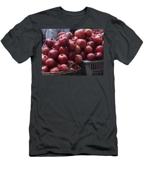 Pomegranates At Jerusalem's Old City Market Men's T-Shirt (Athletic Fit)