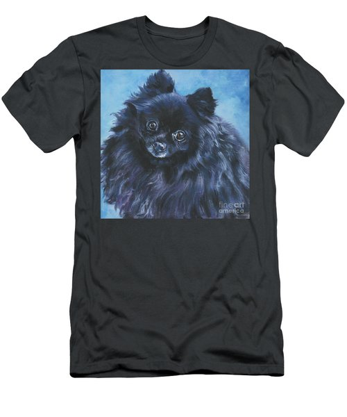 Pomeranian Black Men's T-Shirt (Athletic Fit)