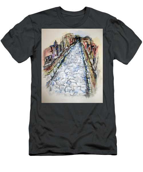 Pompeii Road Men's T-Shirt (Slim Fit) by Clyde J Kell