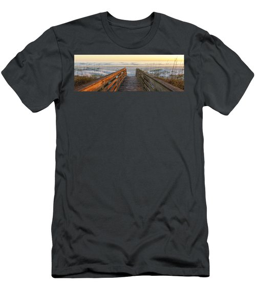 Ponce De Leon Inlet Beach Path Men's T-Shirt (Athletic Fit)