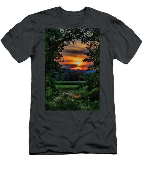Pond Sunset  Men's T-Shirt (Athletic Fit)
