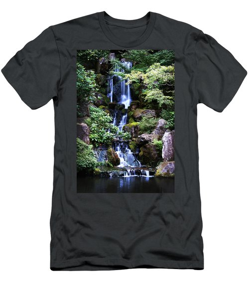 Pond Waterfall Men's T-Shirt (Athletic Fit)