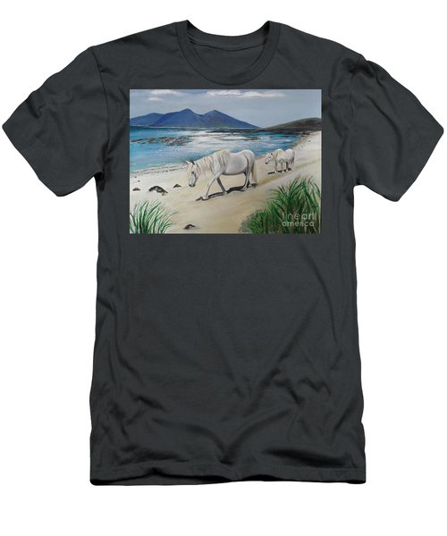 Ponies Of Muck- Painting Men's T-Shirt (Slim Fit) by Veronica Rickard