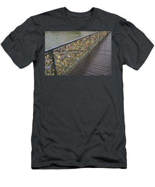Pont Des Artes Men's T-Shirt (Slim Fit) by Allen Sheffield