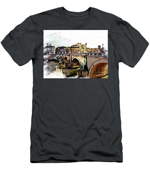 Ponte San Angelo, Rome, Italy Men's T-Shirt (Athletic Fit)