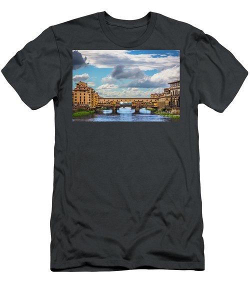 Ponte Vecchio Clouds Men's T-Shirt (Athletic Fit)