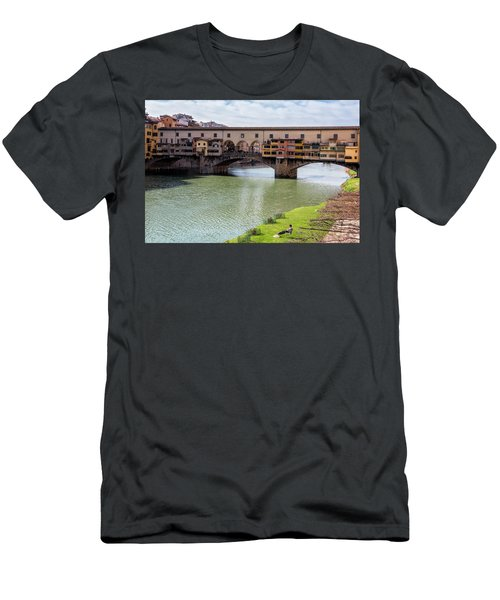 Men's T-Shirt (Slim Fit) featuring the photograph Ponte Vecchio Florence Italy II by Joan Carroll
