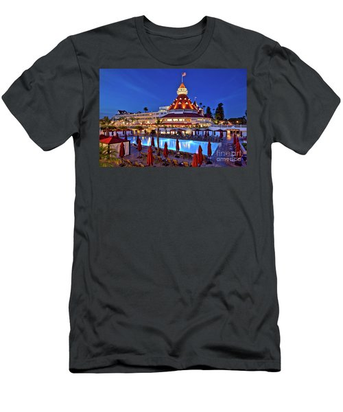 Poolside At The Hotel Del Coronado  Men's T-Shirt (Athletic Fit)