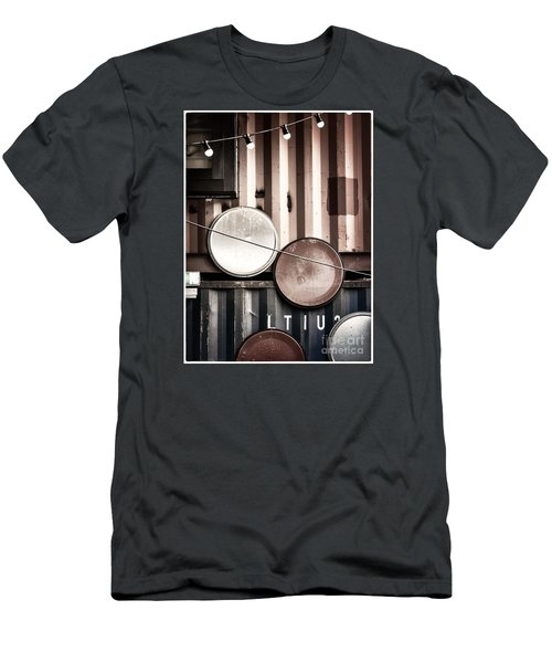 Men's T-Shirt (Slim Fit) featuring the photograph Pop Brixton - Industrial Style by Lenny Carter