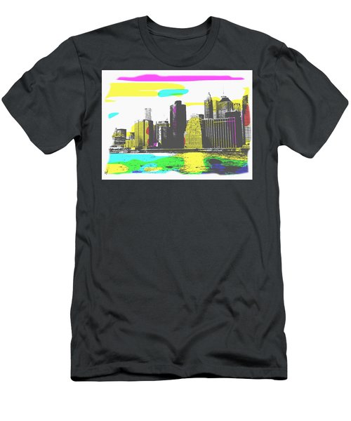 Men's T-Shirt (Athletic Fit) featuring the digital art Pop City Skyline by Shelli Fitzpatrick