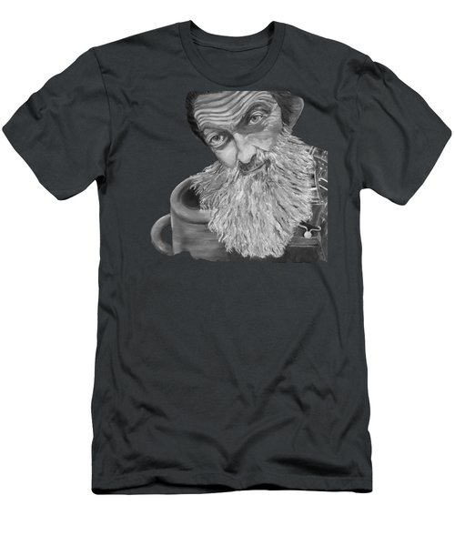 Popcorn Sutton Black And White Transparent - T-shirts Men's T-Shirt (Athletic Fit)