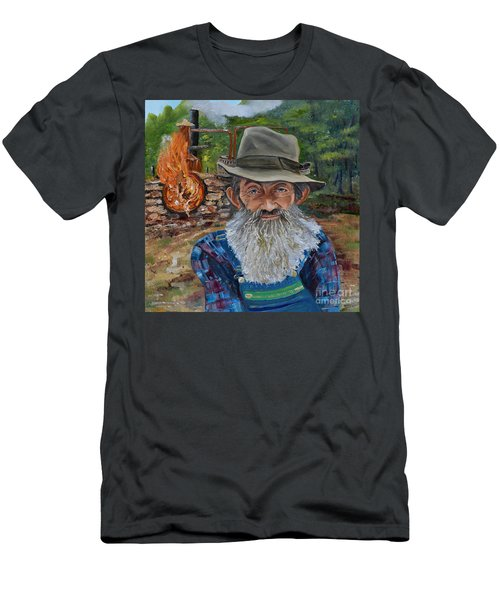 Popcorn Sutton - Rocket Fuel -white Whiskey Men's T-Shirt (Athletic Fit)