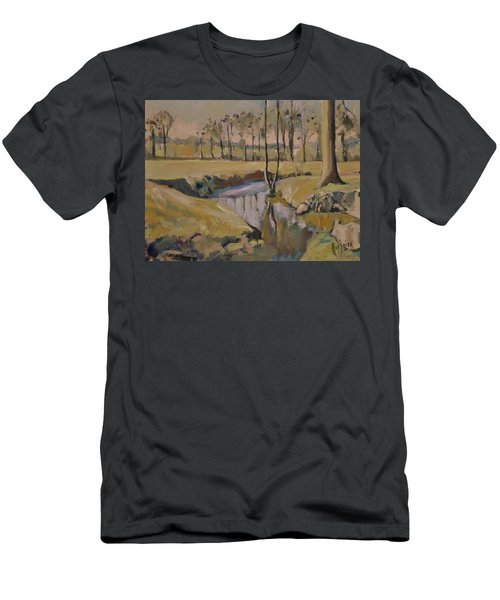 Poplars And Mistletoe Along The River Geul Cottessen Men's T-Shirt (Athletic Fit)
