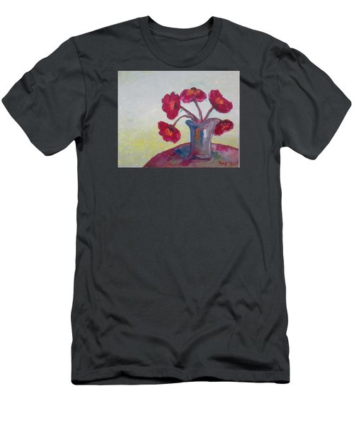 Poppies In A Vase Men's T-Shirt (Athletic Fit)