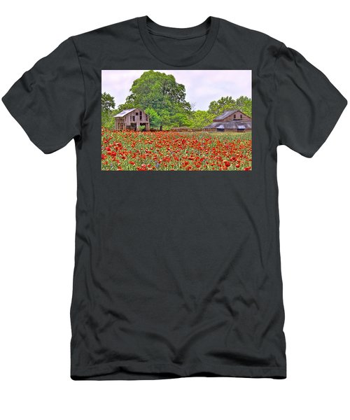 Poppies On The Farm Men's T-Shirt (Athletic Fit)