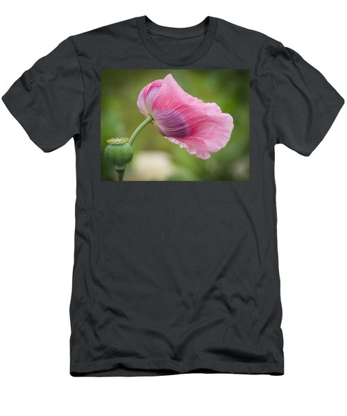 Poppy In The Wind Men's T-Shirt (Athletic Fit)