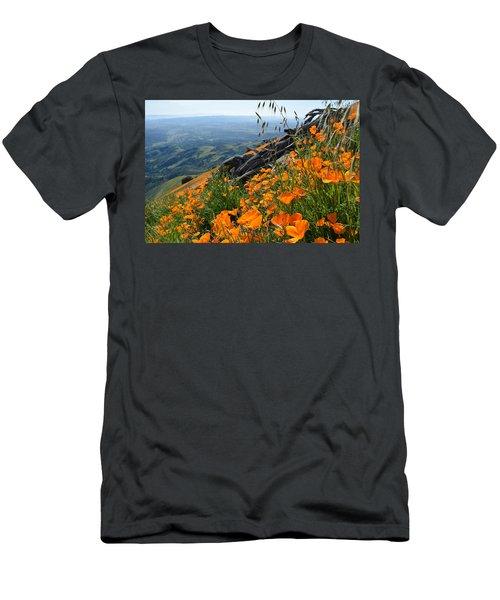 Poppy Mountain  Men's T-Shirt (Slim Fit) by Kyle Hanson