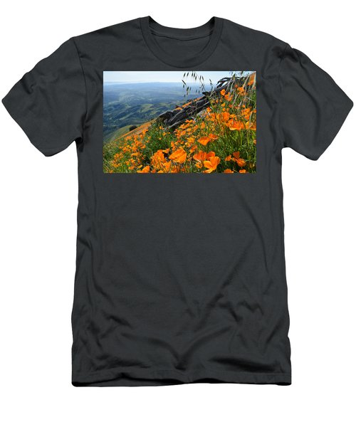 Poppy Mountain  Men's T-Shirt (Athletic Fit)