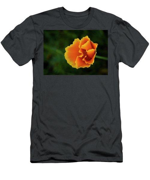 Poppy Orange Men's T-Shirt (Athletic Fit)