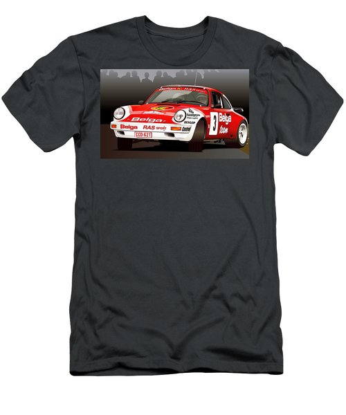 Porsche 911 Rally Illustration Men's T-Shirt (Athletic Fit)