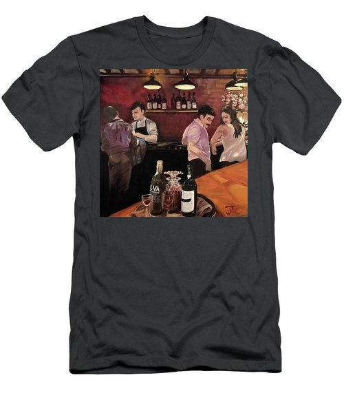 Port Bar Men's T-Shirt (Slim Fit) by Julie Todd-Cundiff