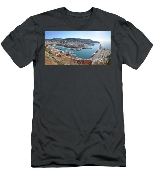 Men's T-Shirt (Slim Fit) featuring the photograph Port Nice Panorama by Yhun Suarez