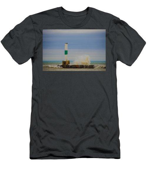 Men's T-Shirt (Slim Fit) featuring the photograph Port Washington Light 2 by Deborah Smolinske