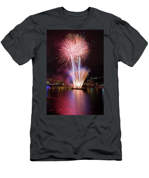 Portland 4th Of July Fireworks Men's T-Shirt (Athletic Fit)