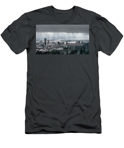 Portland After A Morning Rain Men's T-Shirt (Athletic Fit)