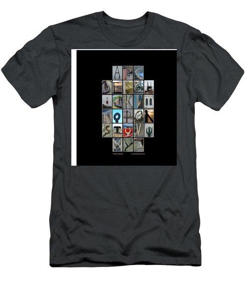 Portland Alphabet Men's T-Shirt (Athletic Fit)