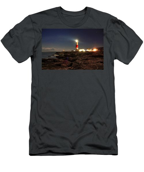 Portland Bill Lighthouse Men's T-Shirt (Athletic Fit)