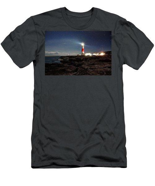 Portland Bill Lighthouse Uk Men's T-Shirt (Athletic Fit)