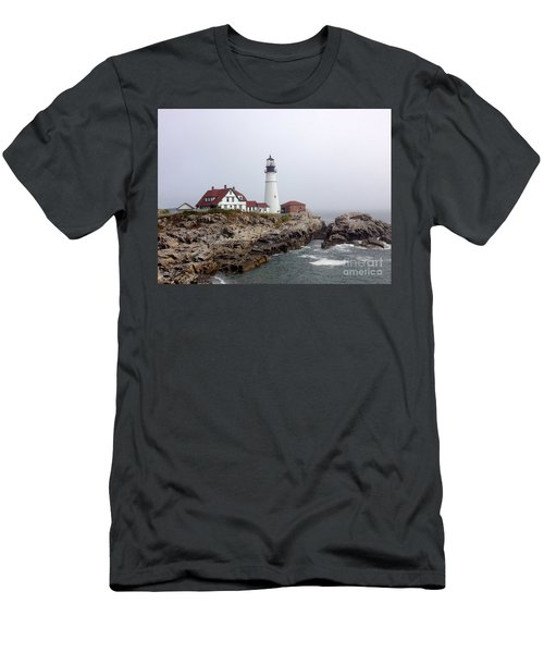 Men's T-Shirt (Athletic Fit) featuring the photograph Portland Head Light by Barbara Von Pagel