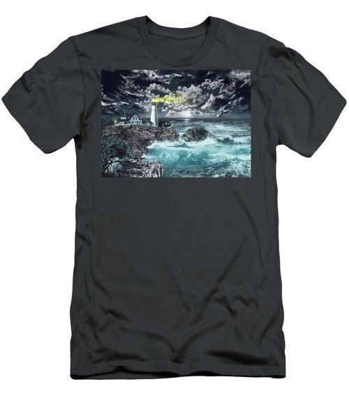 Portland Head Light Men's T-Shirt (Athletic Fit)