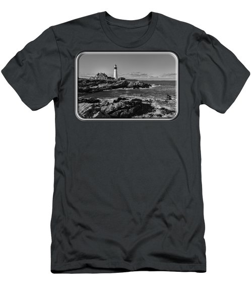 Portland Head Light No.34 Men's T-Shirt (Slim Fit) by Mark Myhaver