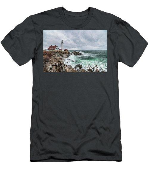 Portland Head Light Nor'easter Men's T-Shirt (Athletic Fit)