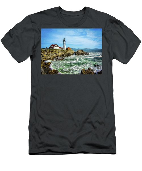 Portland Head Light - Oldest Lighthouse In Maine Men's T-Shirt (Athletic Fit)