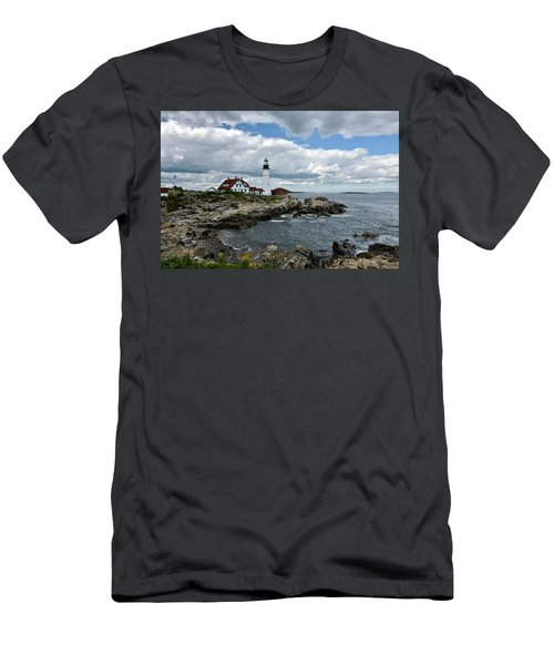 Portland Head Light, Starboard Men's T-Shirt (Athletic Fit)