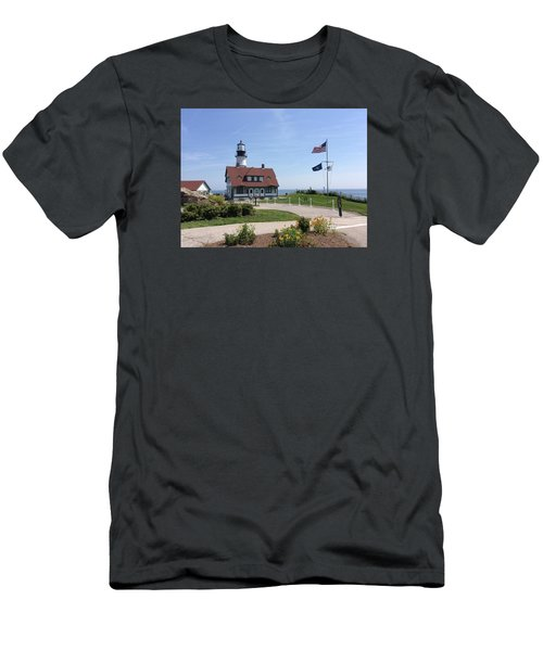 Portland Head Lighthouse Maine Men's T-Shirt (Athletic Fit)