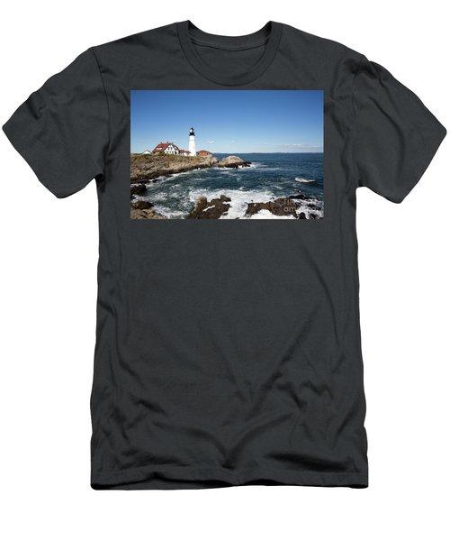 Portland Head Lighthouse Maine Men's T-Shirt (Athletic Fit)