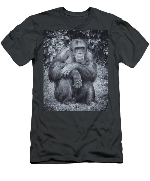 Portrait Of A Chimp Men's T-Shirt (Athletic Fit)