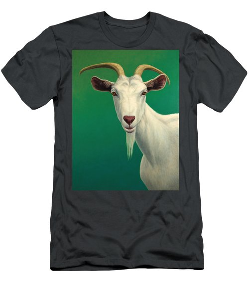 Portrait Of A Goat Men's T-Shirt (Slim Fit) by James W Johnson