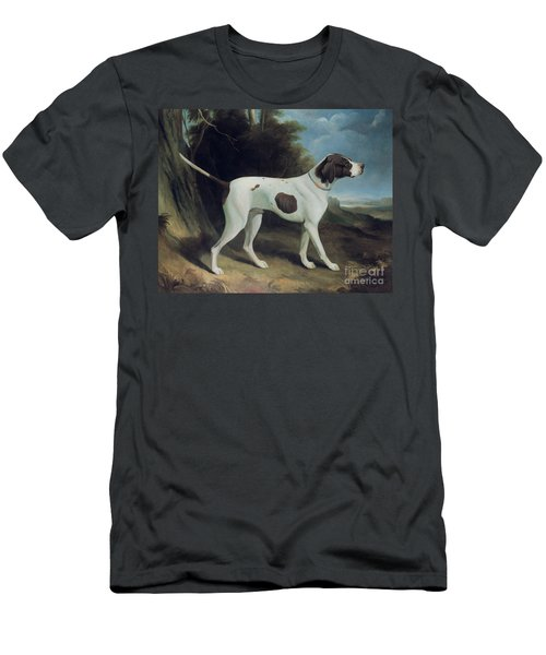 Portrait Of A Liver And White Pointer Men's T-Shirt (Athletic Fit)