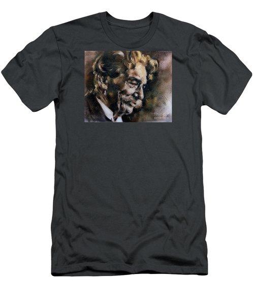 Portrait Of Albert Schweitzer Men's T-Shirt (Athletic Fit)
